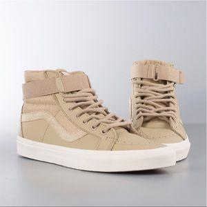 VANS Sk8 Hi Reissue Leather Strap Shoes Sz 13 NWT